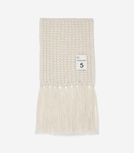 Grofgebreide sjaal in extra groot formaat
