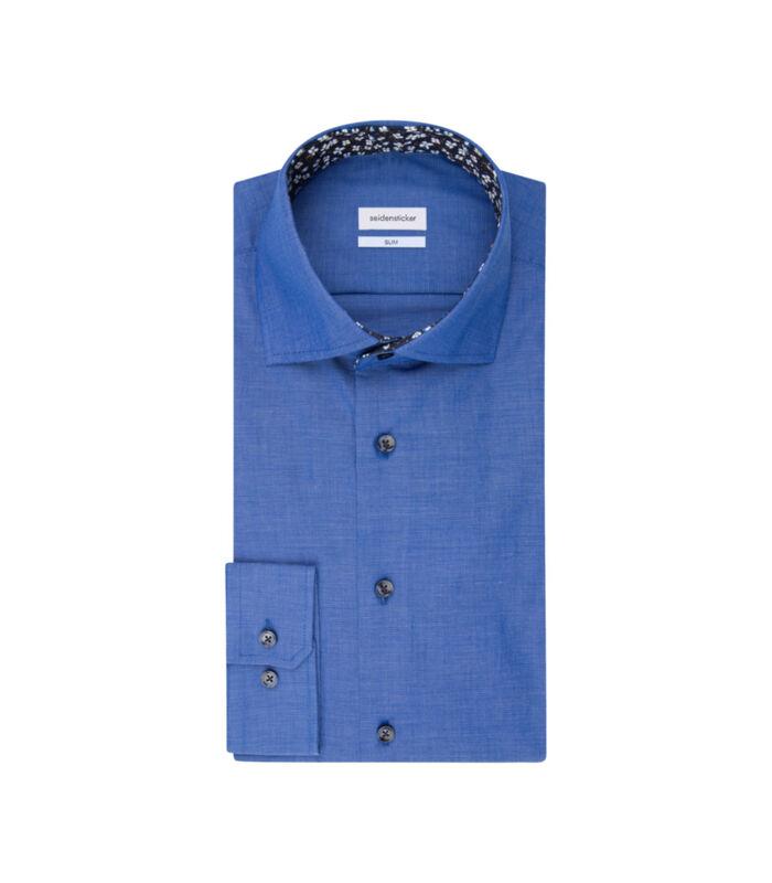 Overhemd Slim Fit Lange mouwen Uni image number 4
