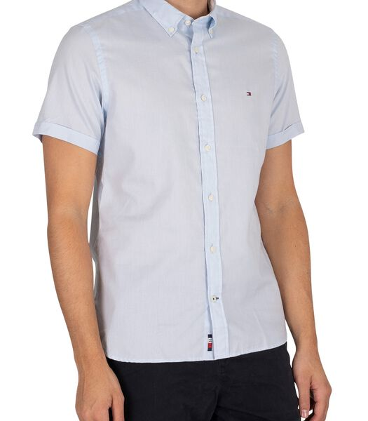 Slim Travel Oxford shirt met korte mouwen