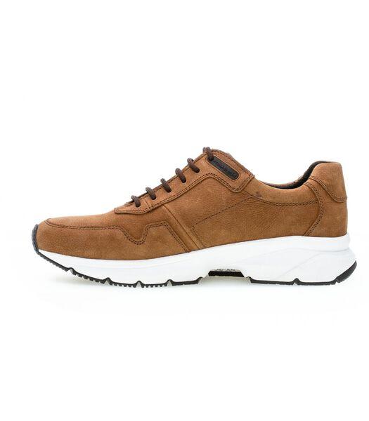 Sneakers met sleehak leer