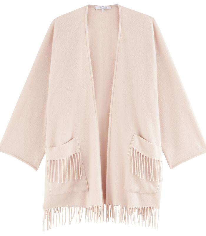 Homewear korte poncho wol image number 4