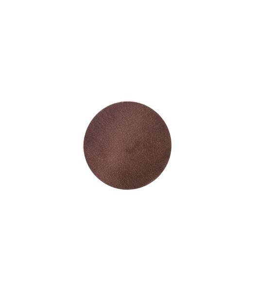 ELLIS sous-verre rond brun foncé