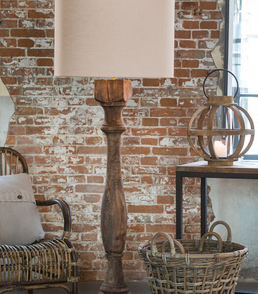 Vloerlamp ROBBIA - hout weather barn