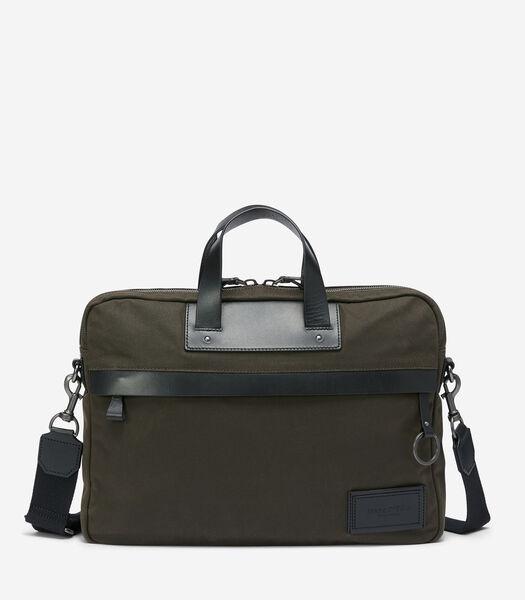 Business bag van canvas dat in de was is gezet