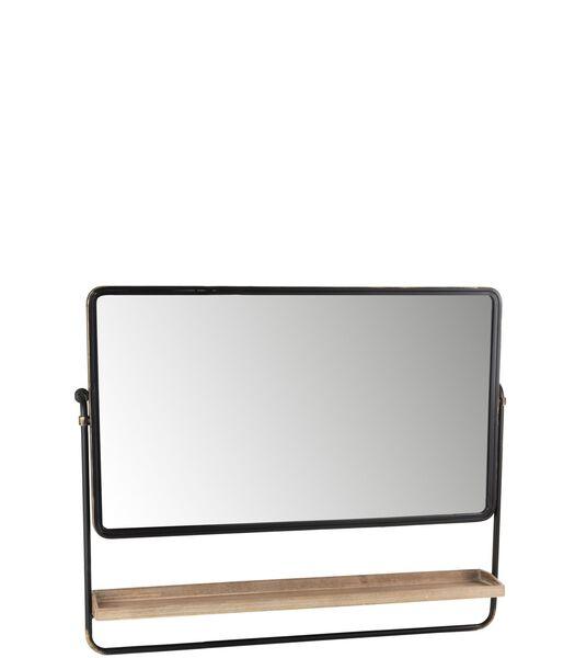 Miroir   Planche Rectangle Metal/Verre Noir