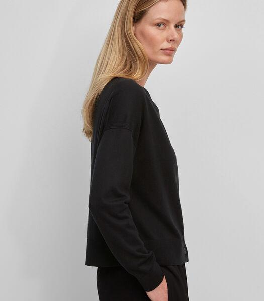 Vest van een mix van katoen, viscose en kasjmier