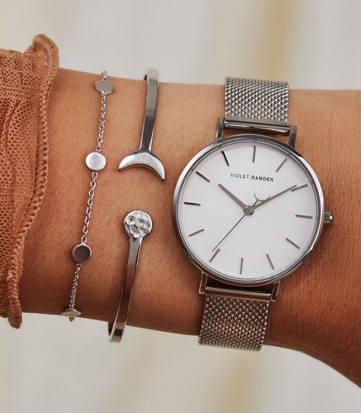 Day & Night Horloge Argent VH08001