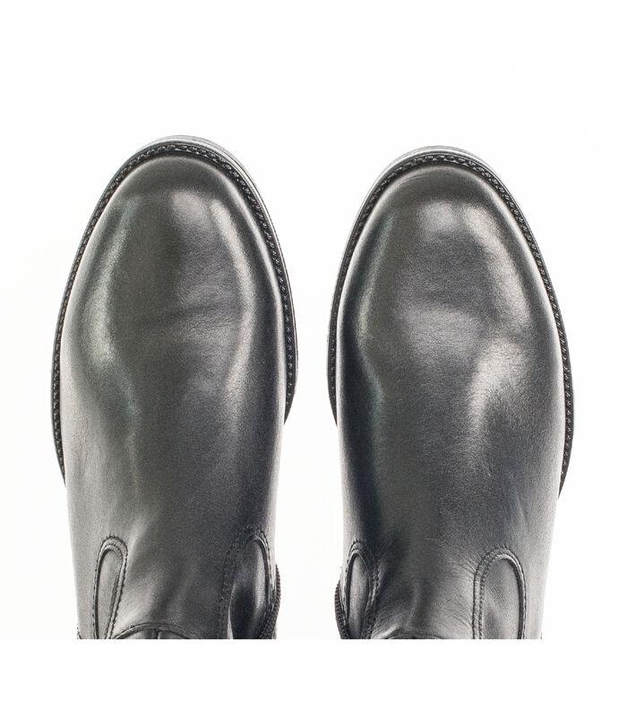 Laarzen blokhak/gegalvaniseerd effect glad leer image number 3