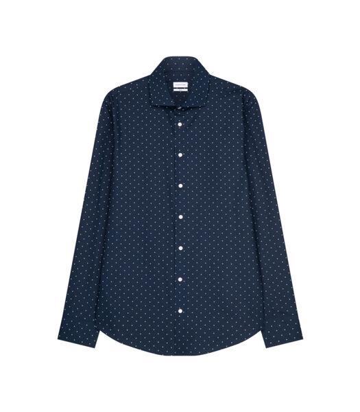 Overhemd Slim Fit Lange mouwen Stippen