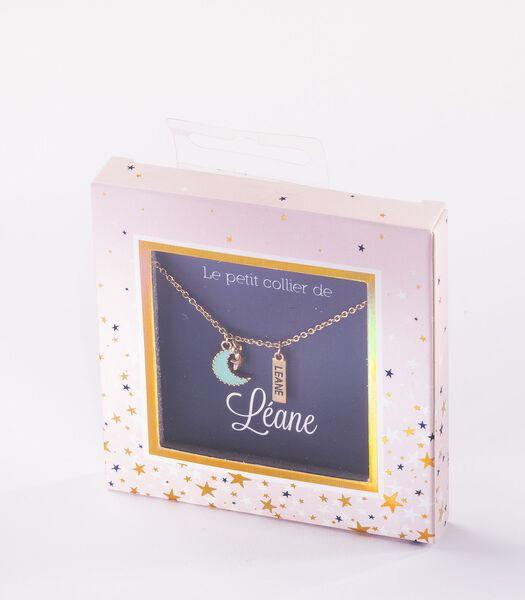 Collier prénom Leane avec pendentif Lune
