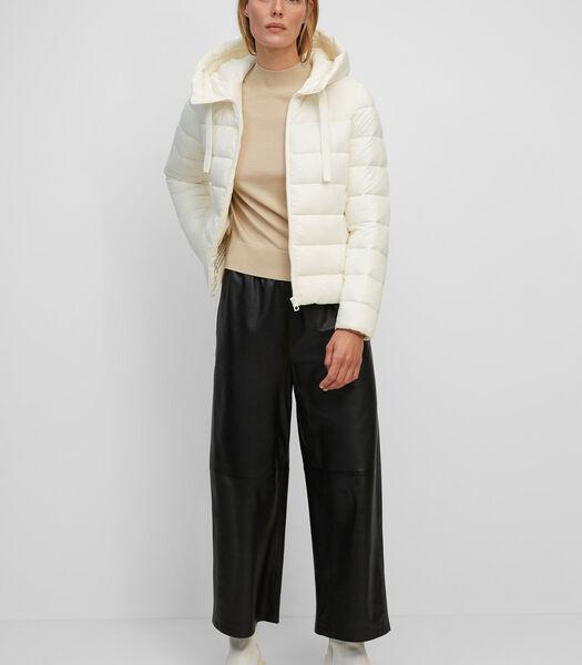 Gewatteerde jas met capuchon van gerecyclede materialen