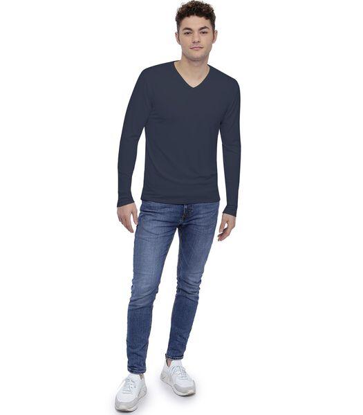 Tee-shirt col V manches longues SAMUEL