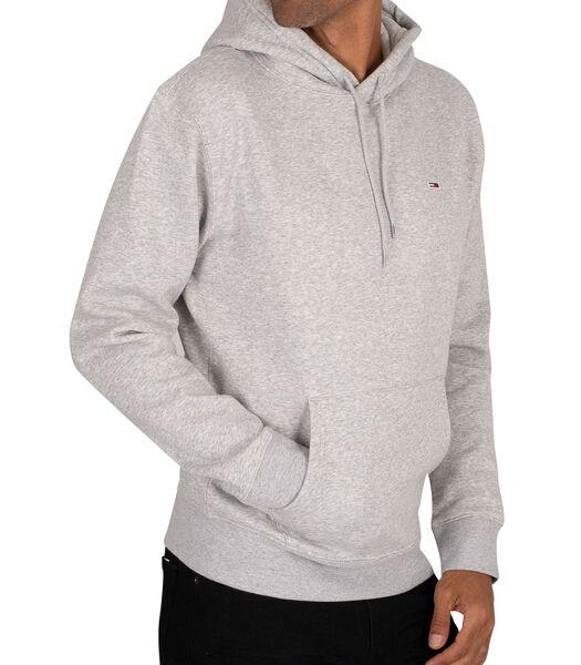 Normale fleece pullover met capuchon