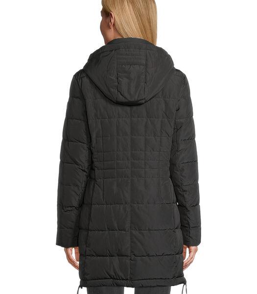 Manteau matelassé à col en fourrure synthétique