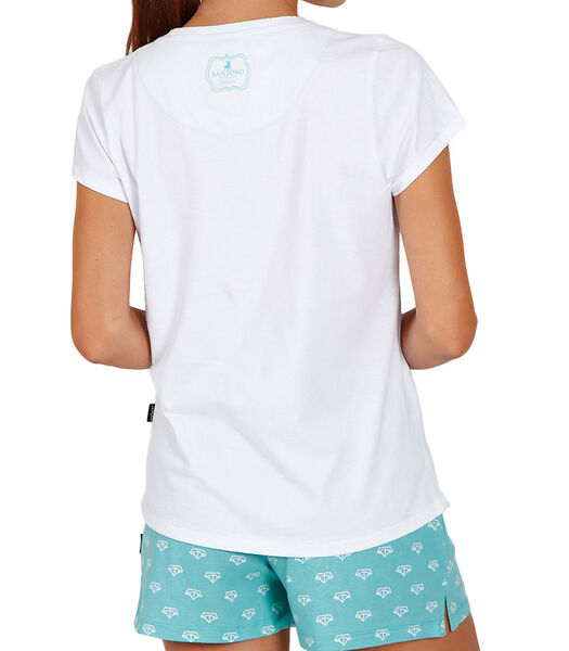 Pyjamashort t-shirt Into The Ocean Santoro wit