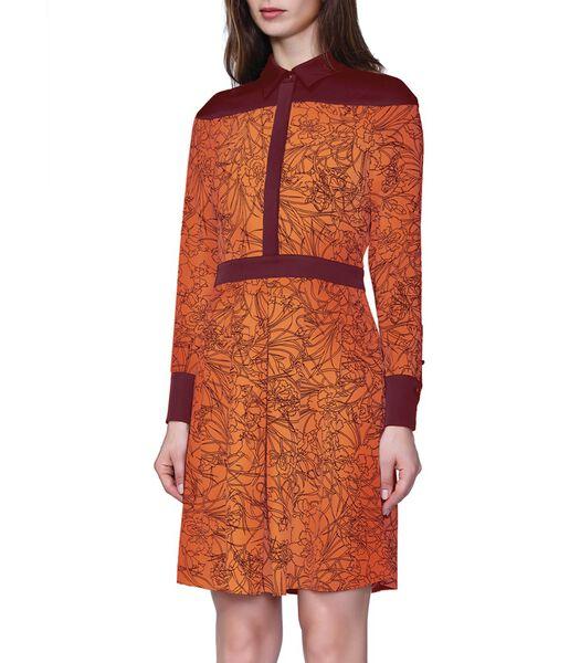 Lineair shirt-jurkje met bloemenprint