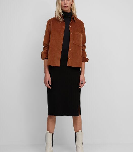 Corduroy blouse van zacht corduroy