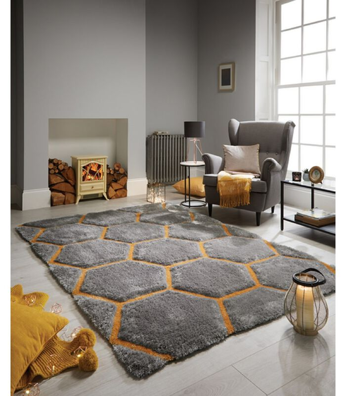 Modern tapijt in reliëf BEEHIVE image number 1