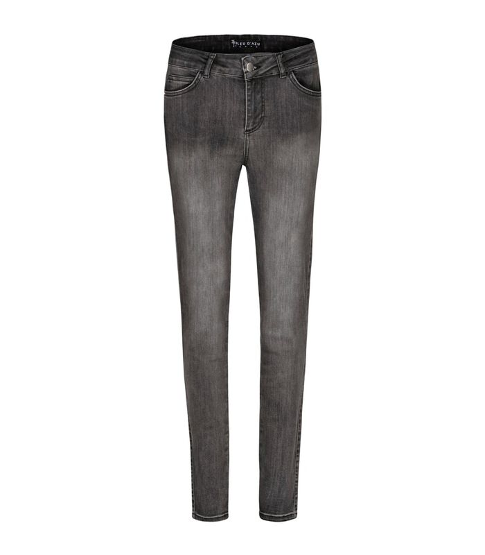 Jeans slim taille haute STREET image number 0