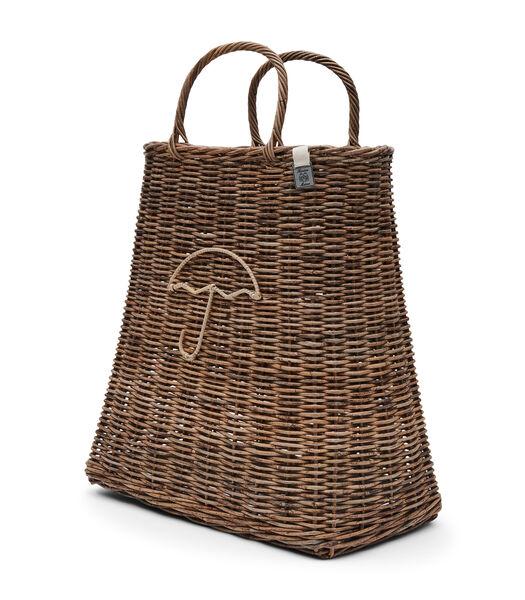 Rustic Rattan Umbrella Bag