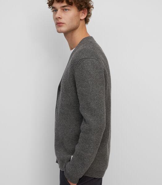 Vest van een hoogwaardige mix met katoen en wol