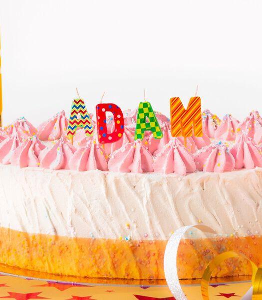 Bougies d'anniversaire prénom Adam