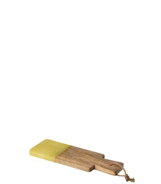 Planche Rectangulaire Alabaster Bois Jaune Small