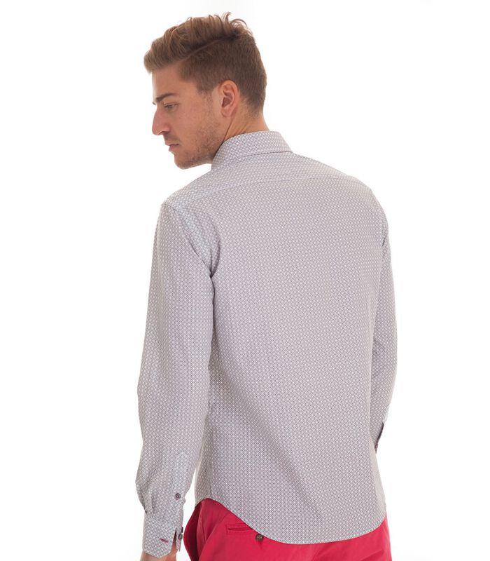 Overhemd in popeline met lange mouwen en motief image number 2