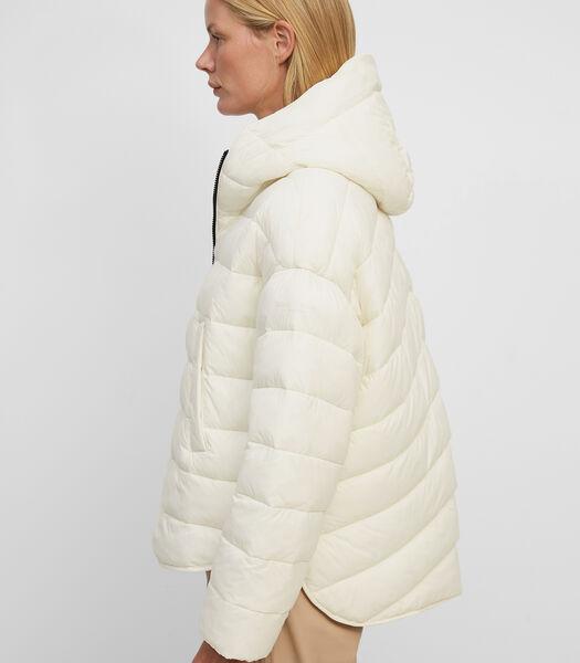 Veste matelassée de style cape en nylon recyclé