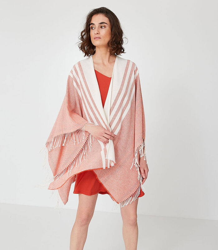 Homewear korte poncho katoen image number 0