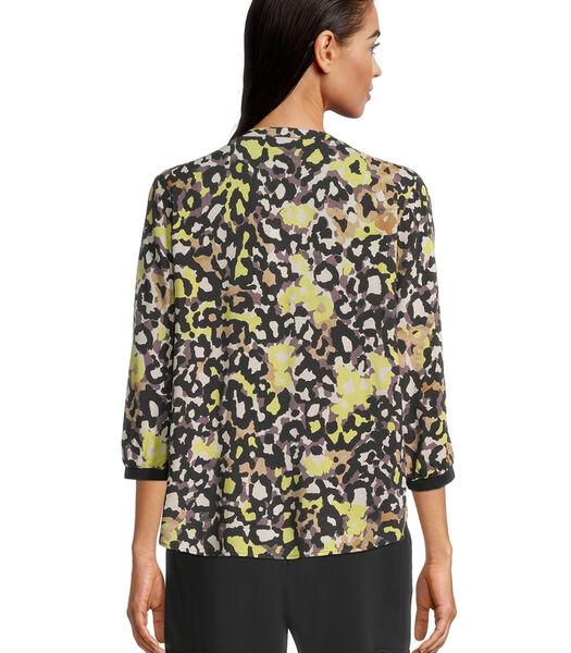 Casual blouse met 3/4-mouw