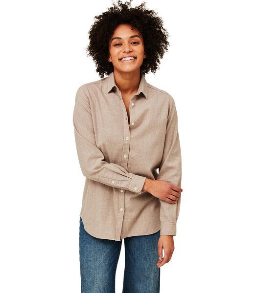Isa Lt Flanellen overhemd van biologisch katoen