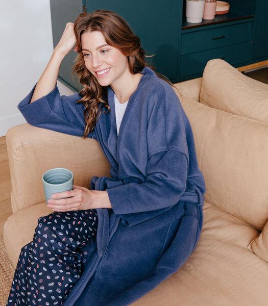 Peignoir en polaire col kimono KATE