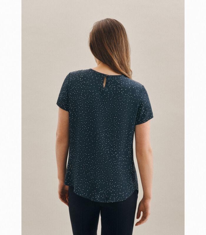Shirtblouse Stippen Korte mouwen Ronde Hals image number 1