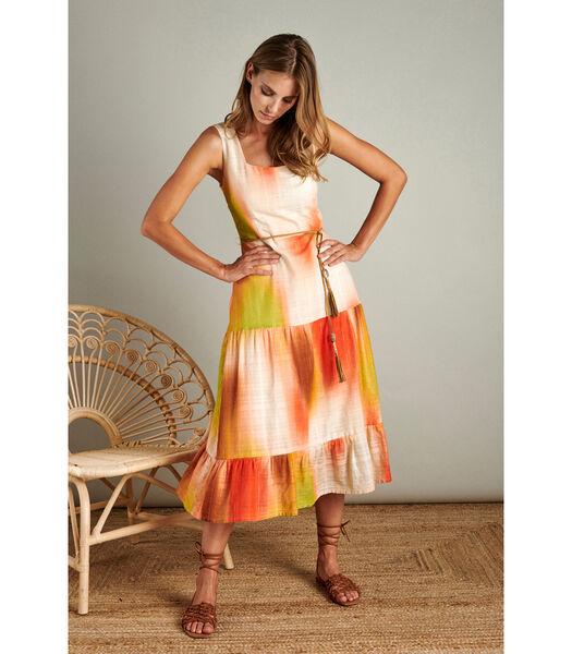 Elegante maxi dress met zomerse kleuren