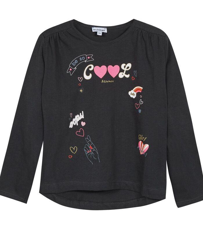 Set met 3 stuks: t-shirt, vest en rok met ruches image number 2