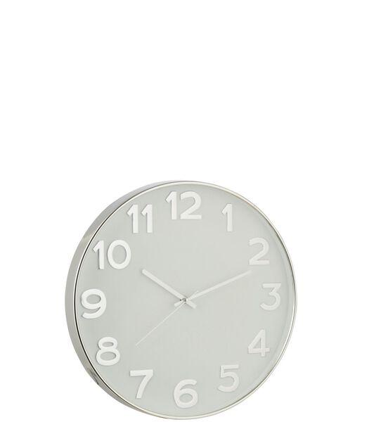 Horloge Chiffres Arabes Plastique Argent