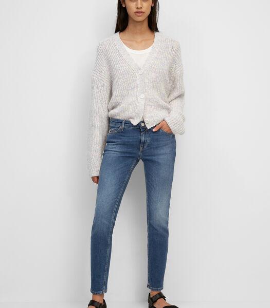 Jeans model SIV cropped van een mix met organic cotton