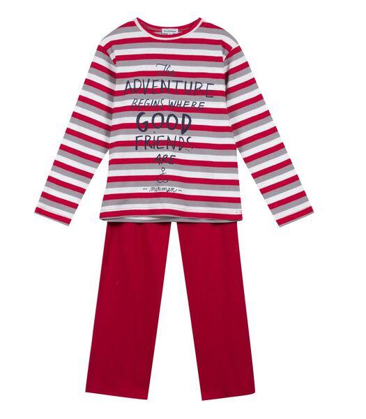 Gestreept pyjama t-shirt met lange mouwen