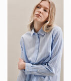 Shirtblouse Strepen Lange mouwen Kraag image number 2