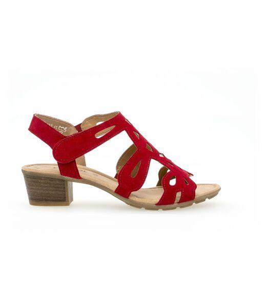 Suède sandalen met platte hak