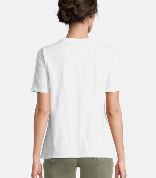 Basic shirt met borduursel
