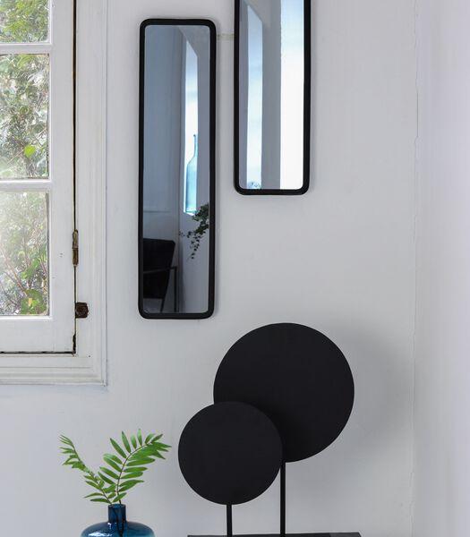 Wandspiegel Sinna - Zwart - 20x4,5x60 cm