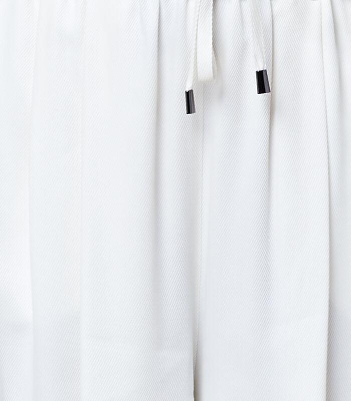 Marine-blauwe korte broek met elastische taille HOUSAMY image number 4