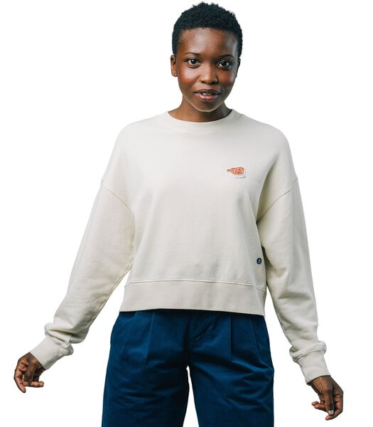 Sweatshirt Fugu Ecru