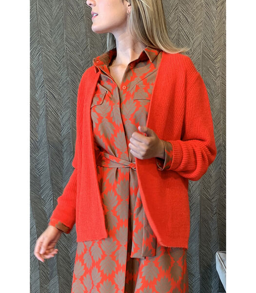 Cardigan rouge confortable