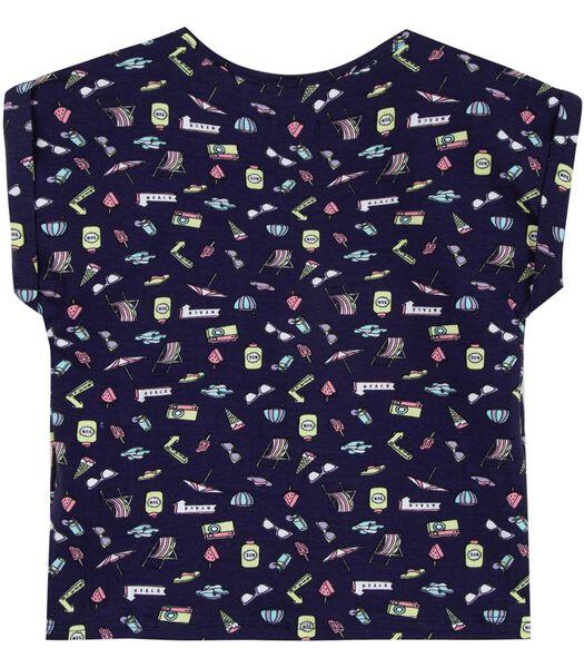 T-shirt imprimé avec noeud fantaisie