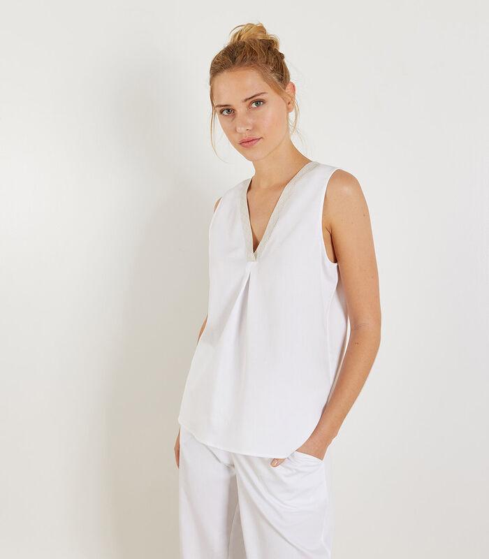 Ubud - Homewear Top zonder mouwen katoen image number 0