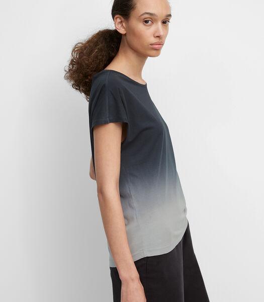 Gebatikt T-shirt met casual kleurverloop