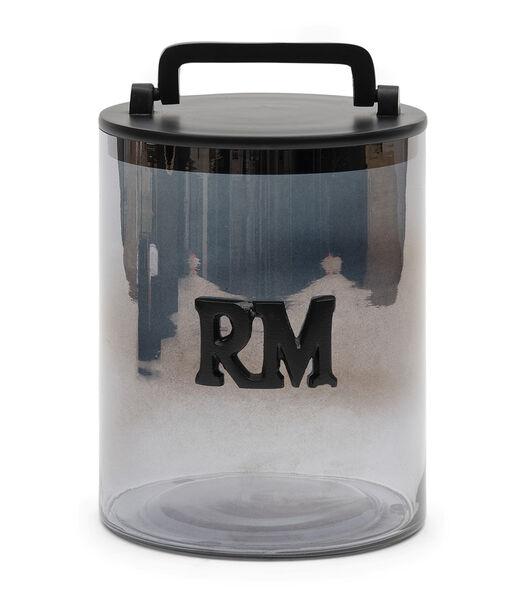 Bocal de stockage en verre fumé RM M
